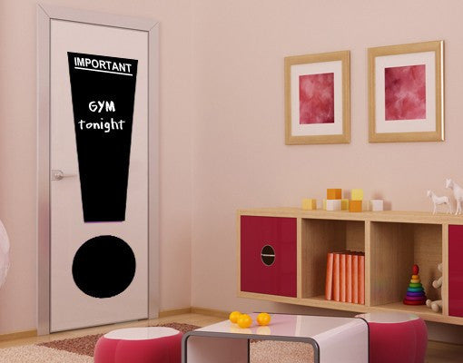 Important!-Blackboard and Whiteboard Wall Decals-Style and Apply