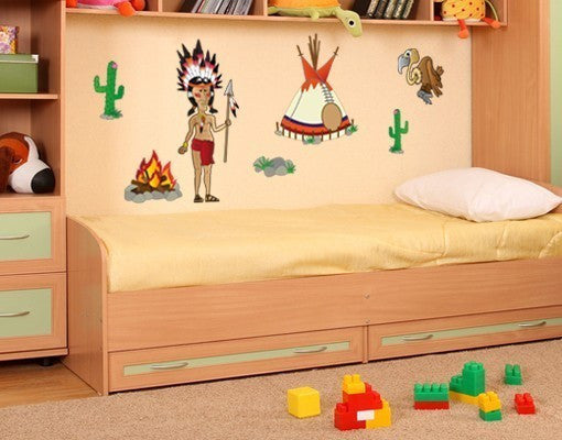 Indian Stickers Wall Decal Set