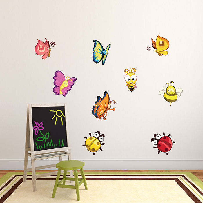 Insects Sticker Wall Decal Set