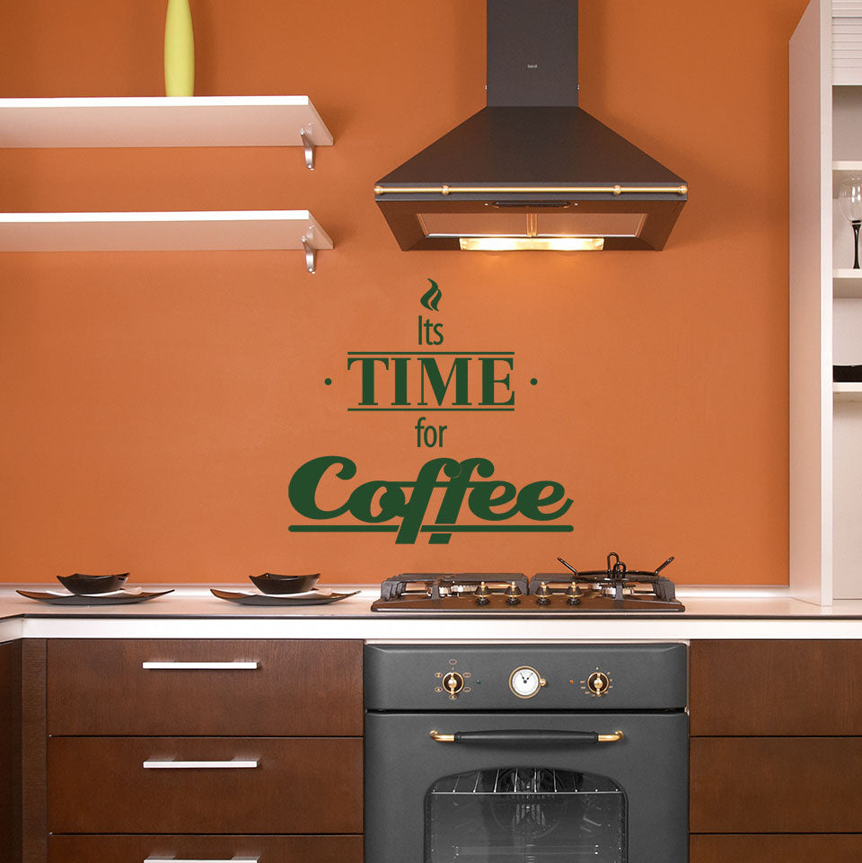 Its Time for Coffee Wall Decal
