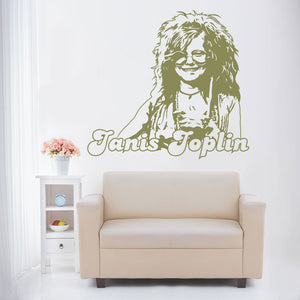 Janis Joplin-Wall Decal