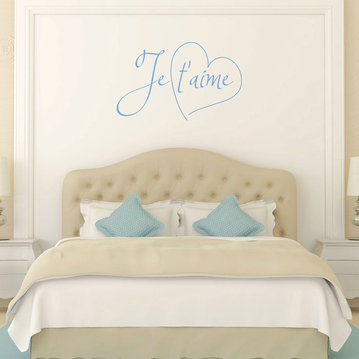 Je t aime Wall Decal Quote