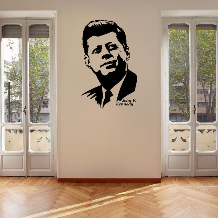 John F. Kennedy Wall Decal