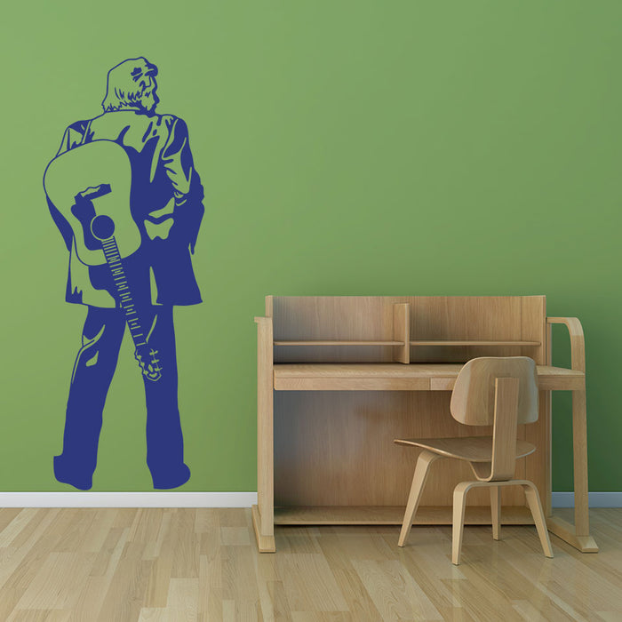 Johnny Cash Wall Decal