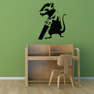 Journeyman Rat Banksy Wall Decal-Wall Decals-Style and Apply