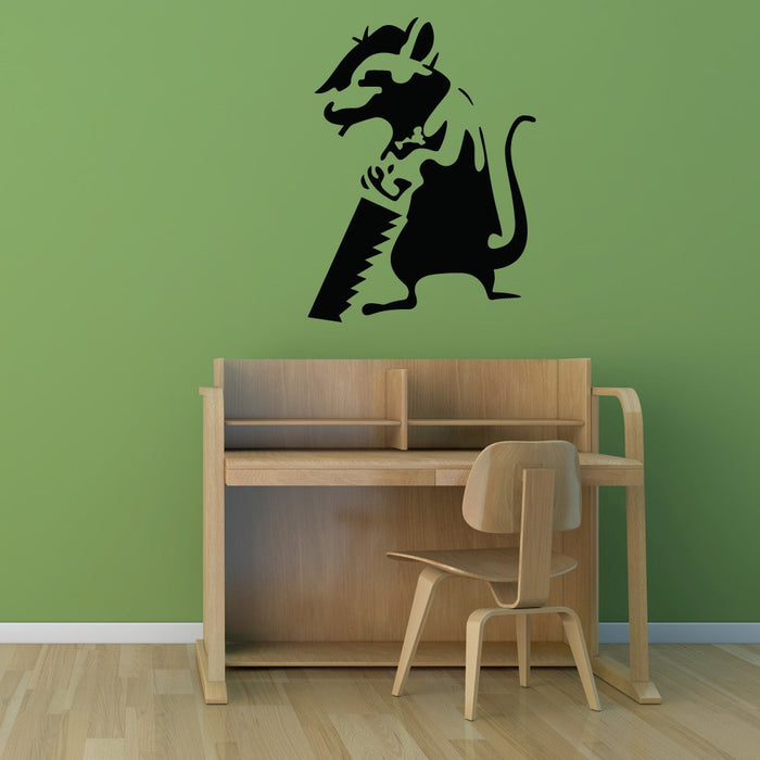 Journeyman Rat Banksy Wall Decal