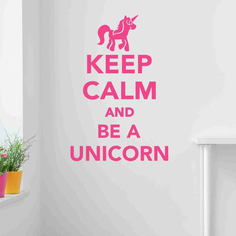 Keep Calm And Be A Unicorn Wall Decal Sticker, Vinyl Wall Art, Wall Decor-SA Wall Decals-Style and Apply