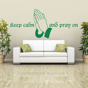 Keep Calm and Pray On Wall Decal