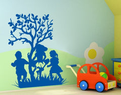 Kids laughing-Wall Decals-Style and Apply