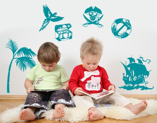 Kids Pirate Wall Decal Set