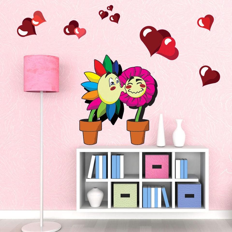 Lovely Flowers-Wall Decal Sticker