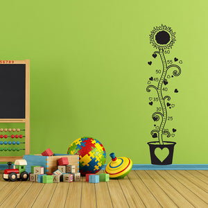 Kids Growth Chart Sunflower Wall Decal-Wall Decals-Style and Apply