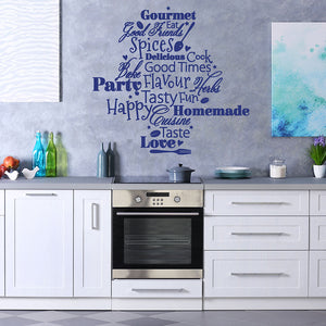 Kitchen Words Wall Decal quote