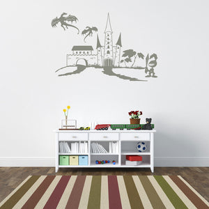 Knight World Decal-Wall Decals-Style and Apply