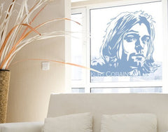 Kurt Cobain-Window Decals-Style and Apply