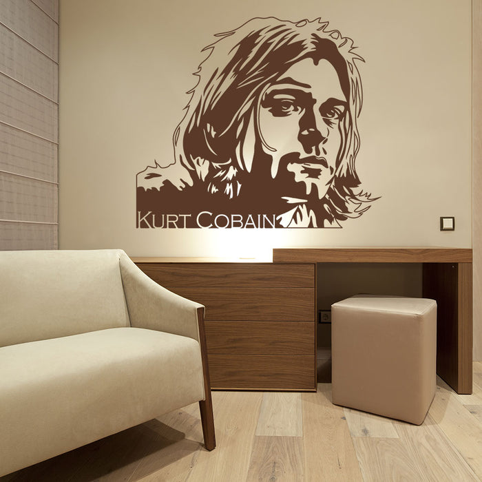 Kurt Cobain II Wall Decal