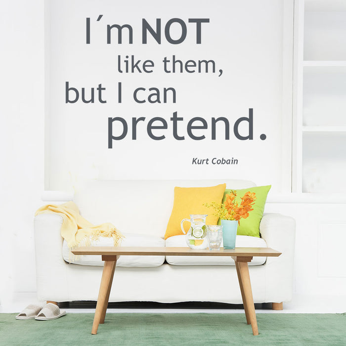 I Can Pretend Wall Decal Quote