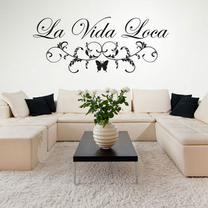 La Vida Loca Quote-Wall Decal