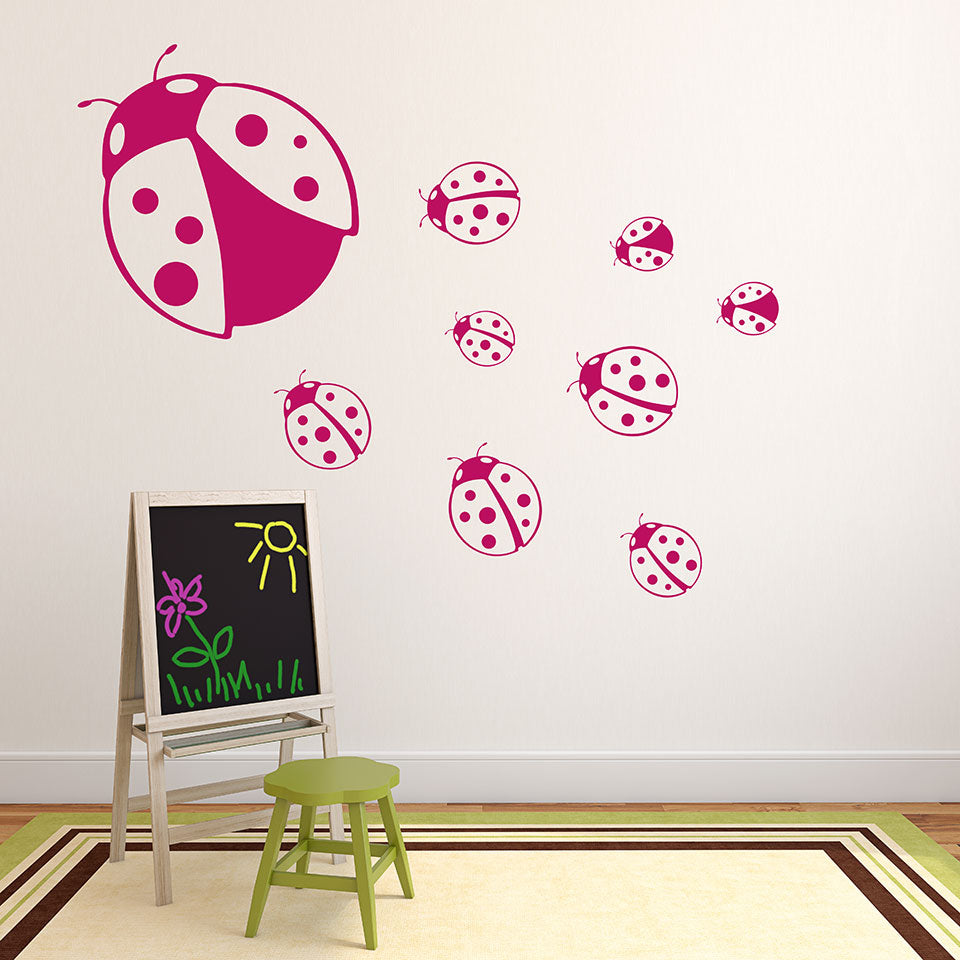 Ladybugs-Wall Decals-Style and Apply