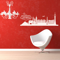 Las Vegas Skyline-Wall Decals-Style and Apply