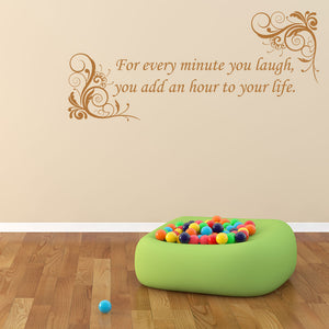 Laugh-Wall Decals quote