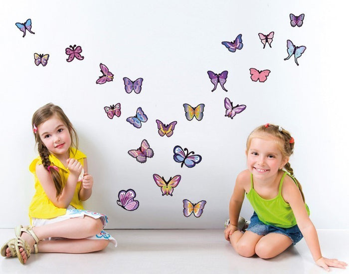 Lavender Butterfly Wall Decal Set