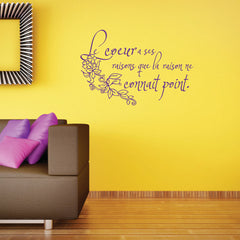 Heart Quote in French-Wall Decal
