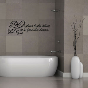 Le plaisir...-Wall Decal