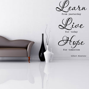 Learn, Live, Hope Quote-Wall Decals