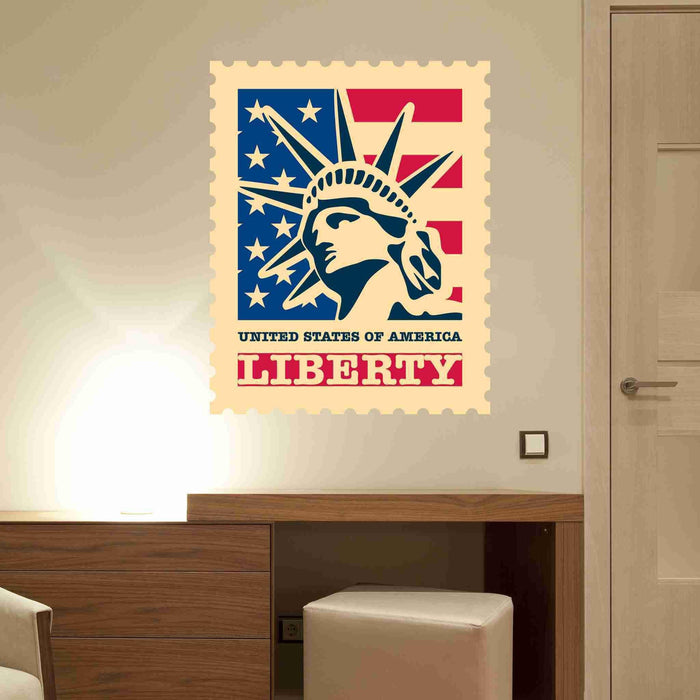 Liberty Stamp Wall Sticker