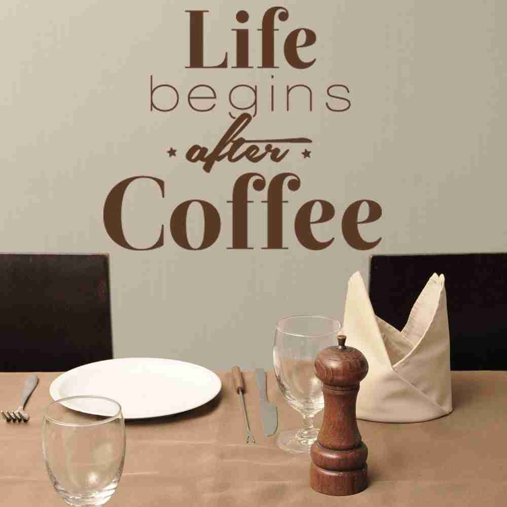 Life Begins After Coffee Wall Decal-Wall Decals-Style and Apply