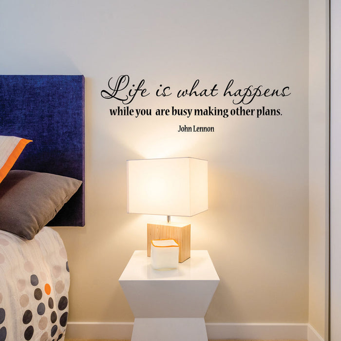Life Happens Wall Decal Quote