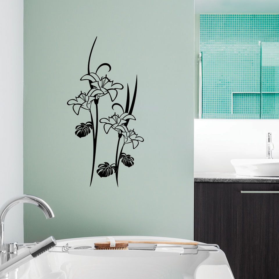 lilies Plant-Wall Decal