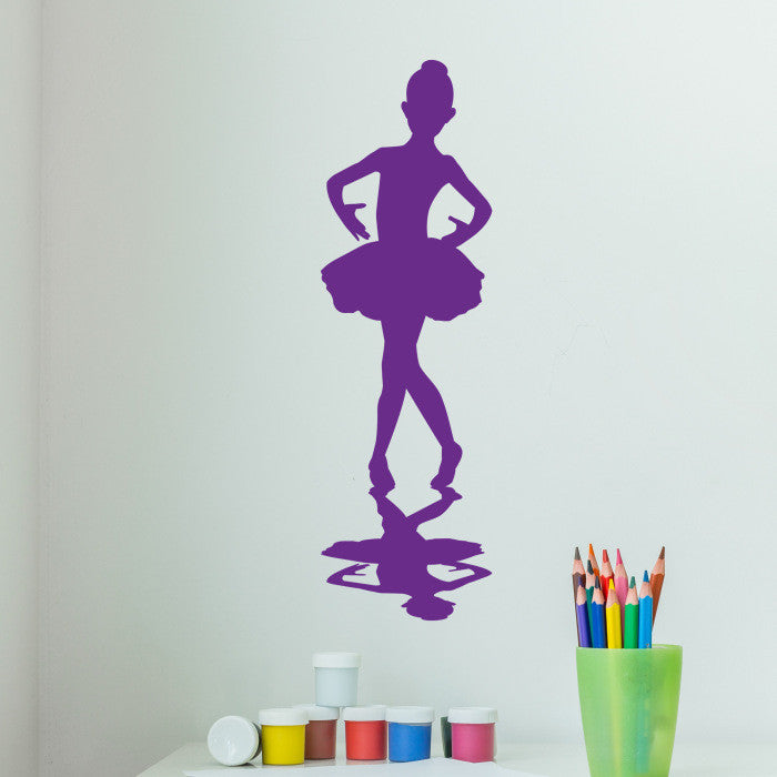 Little Ballerina Wall Decal Sticker, Girl's Room Vinyl Wall Art, Nursery Wall Decor