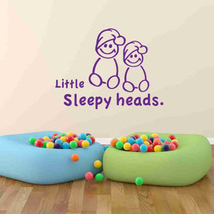 Little Sleepy Heads Wall Decal-Wall Decals-Style and Apply