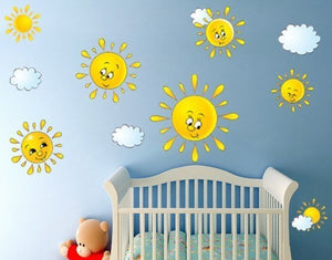 Little Suns-Wall Decal Stickers-Style and Apply
