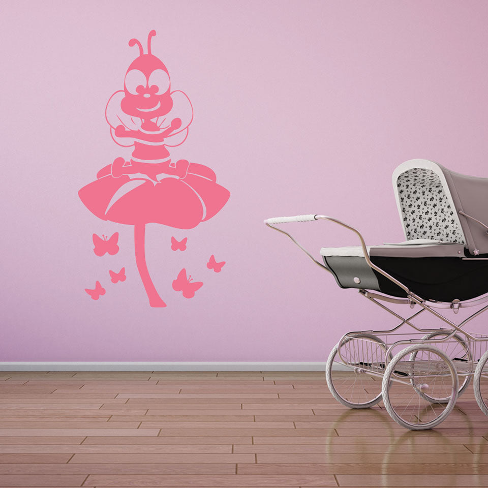 Little Bee-Wall Decals-Style and Apply