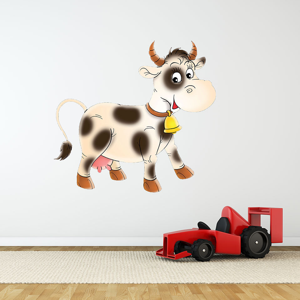 Little Cow-Wall Decal Stickers-Style and Apply