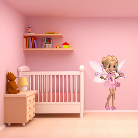 Little Fairy Wall Decal-Wall Decal Stickers-Style and Apply