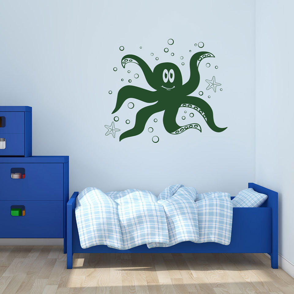 Little Octopus-Wall Decals-Style and Apply