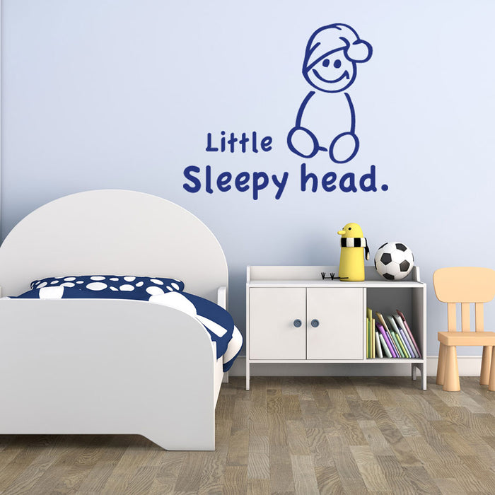 Little Sleepy Head Wall Decal