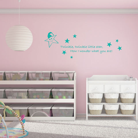 Little Star Wall Quote-Wall Decals-Style and Apply