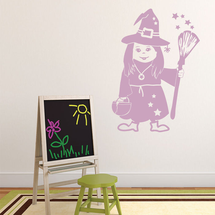 Little Witch Wall Decal
