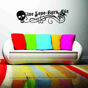 Live, Love, Burn, Die Wall Decal-Wall Decals-Style and Apply