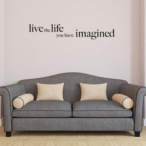 Live the life-Wall Decal