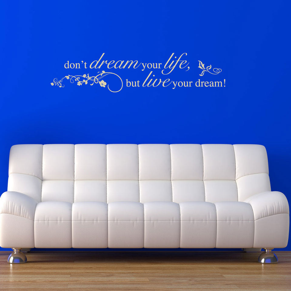 Live Your Dream Quote-Wall Decal