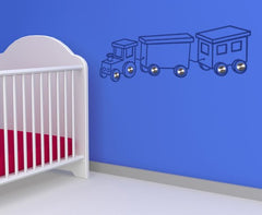 Locomotive-Wall Decal Hangers-Style and Apply