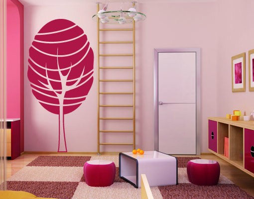 Lollipop Tree-Wall Decals-Style and Apply
