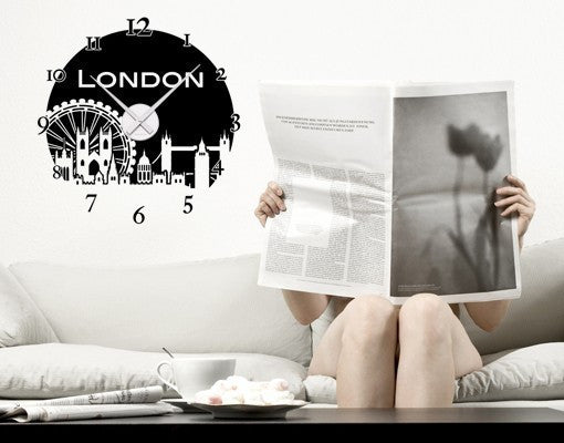 London Clock-Wall Decal Clocks-Style and Apply