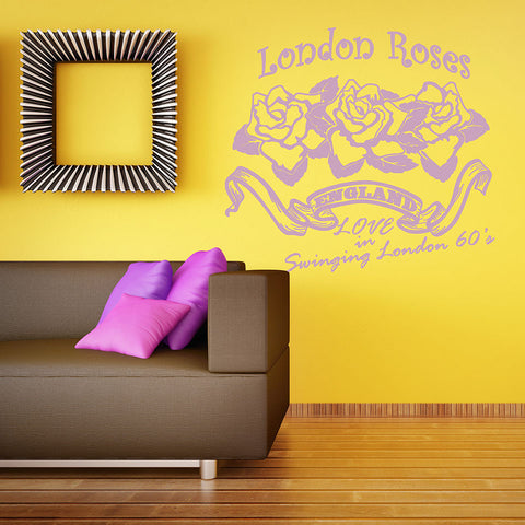 London Roses Wall Decal